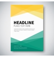 Cover design with abstract colorful geometry on vector image