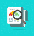 credit score report research document vector image
