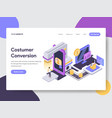 customer conversion isometric vector image vector image