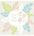 Cute banner with bird and flowers vector image