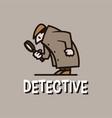 detective retro cartoon mascot logo icon vector image