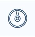 Disc sketch icon vector image vector image
