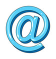 email symbolmail and postman single icon in vector image