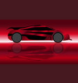 extremely fast car vector image vector image