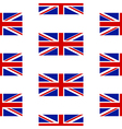 Flag of the United Kingdom seamless pattern vector image