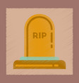flat shading style icons halloween grave vector image vector image