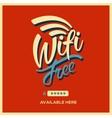 Free wifi symbol retro style vector image vector image