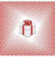 Gift box on a halftone background