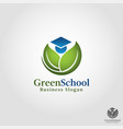 green school - nature education outdoor education vector image vector image