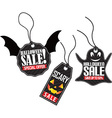 Halloween sale tag set vector image vector image