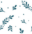 hand drawn branch seamless pattern vector image vector image