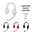 headphones icon in cartoon style isolated on white vector image vector image