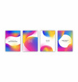 holographic gradient background template set vector image