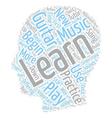 How To Practice Guitar text background wordcloud vector image vector image