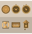 Icons for clocks vector image vector image