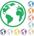 Icons of colorful globes vector image
