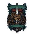 lion sword vector image