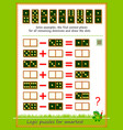 logic puzzle game for children and adults solve vector image vector image