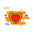 love motivation lettering vector image vector image
