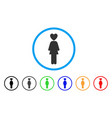 lover woman rounded icon vector image