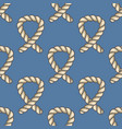 Marine ropes seamless pattern vector image