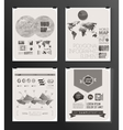 Modern infographic poster Background vector image
