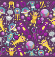 monster alien seamless pattern vector image