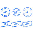 mp4 stamps vector image vector image