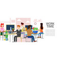 office business working people vector image