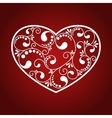 ornamental white heart vector image