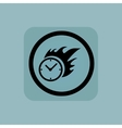Pale blue burning time sign vector image vector image