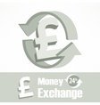 Pound symbol in grey vector image vector image