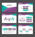 Purple green presentation templates Infographic vector image vector image