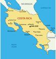 Republic of Costa Rica - map vector image