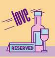 restaurant reserved food vector image vector image