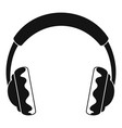 rock headphones icon simple style vector image vector image