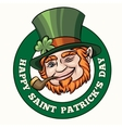Saintt Patricks Day Badge vector image