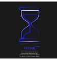 Sand clock Glass timer Flat modern web button and vector image