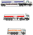 set gasoline trucks isolated on a white vector image vector image