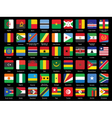 set of African flags icons vector image