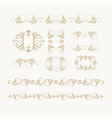 set of calligraphic design elements and page decor vector image vector image