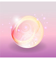 shining abstrack magic pink violet bubble with vector image vector image