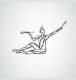 silhouette art rhythmic gymnastic girl vector image vector image