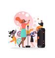 singer concept for web banner website page vector image