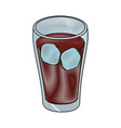 soft drink icon vector image vector image