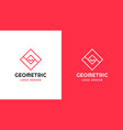 sqquare logotype template positive and negative vector image vector image