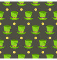 St Patrick Day hat seamless pattern vector image