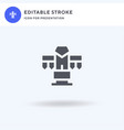 totem icon filled flat sign solid vector image vector image