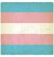 transgender flag old background vector image vector image