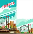 travel city flyer vector image